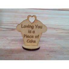 Laser Cut Cupcake  LOVING YOU